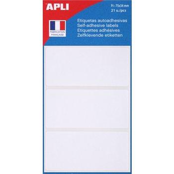 APLI Etiquettes blanches 75x34 mm 21 unités