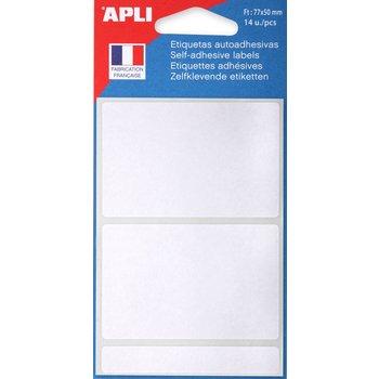 APLI Etiquettes blanches 77x50 mm 14 unités