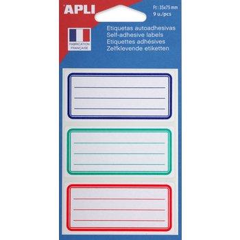APLI Etiquettes scolaires 35x75 mm 9 unités
