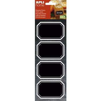 APLI Étiquettes ardoise octogonales 80 x 50 mm 8 unités