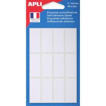 APLI Etiquettes blanches 35x15 mm 84 unités