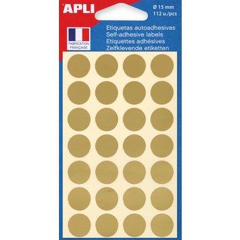 APLI Pastilles or Ø 15 mm 112 unités