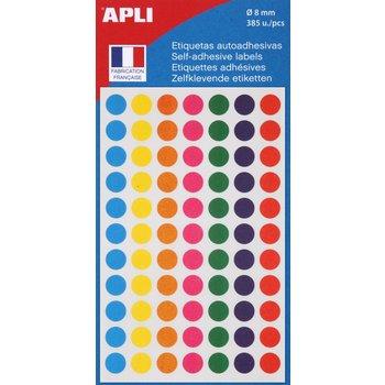 APLI Pochette de 385 pastilles de couleurs assorties