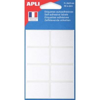 APLI Etiquettes blanches 24x35 mm 56 unités