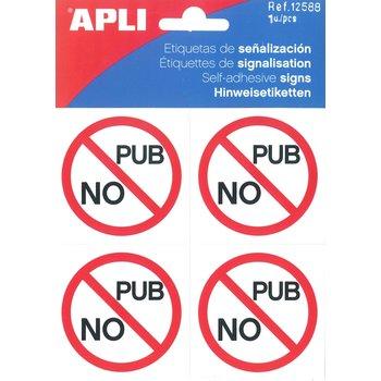 APLI Etiquette de signalisation No Pub