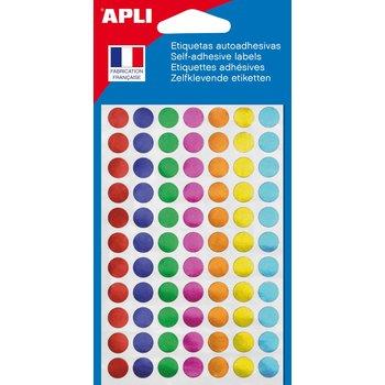 APLI Pastilles couleurs métalisées assorties Ø 8 mm 308 unités