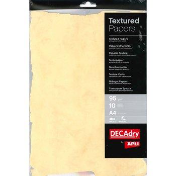 APLI Pochette 10 feuilles pré-découpées papiers structurés