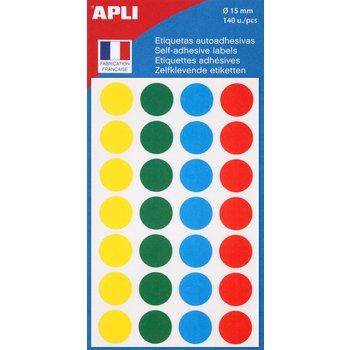 APLI Pochette de 140 pastilles de couleurs assorties
