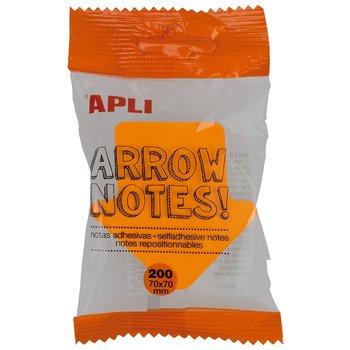 APLI Notes adhésives flèche 70 x 70 mm bloc de 200 feuilles 4 couleurs assorties fluorescentes