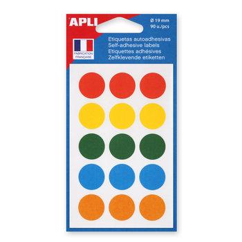 APLI Pochette de 90 pastilles de couleurs assorties
