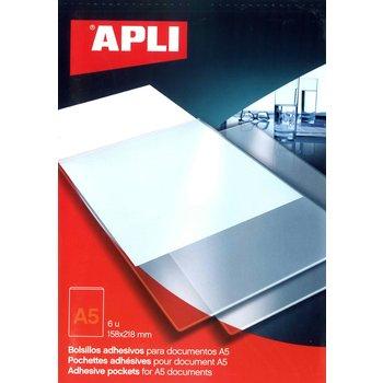 APLI Pochettes autocollantes A5 6 unités