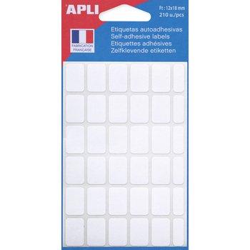 APLI Etiquettes blanches 12x18 mm 210 unités