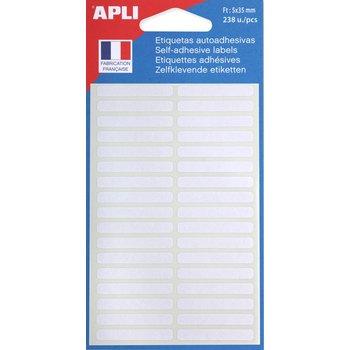 APLI Etiquettes blanches 5x35 mm 238 unités