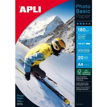 APLI Papier photo Photobasic A4 180 g 20 feuilles