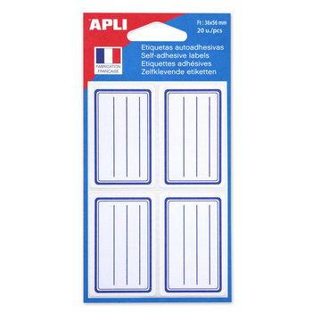 APLI Etiquettes scolaires 36x56 mm 20 unités