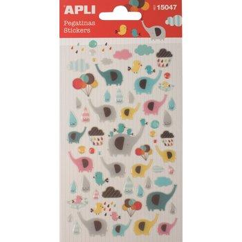 APLI Stickers Éléphants 1 feuille