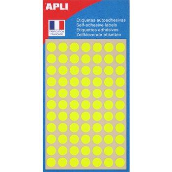 APLI Pastilles jaune fluo Ø 8 mm 385 unités