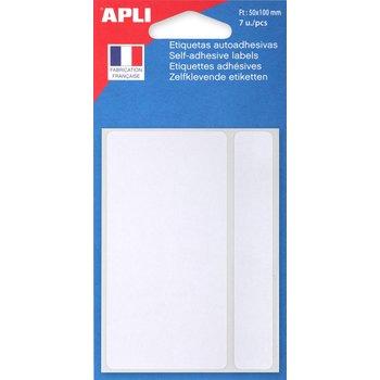 APLI Etiquettes blanches 50x100 mm 7 unités