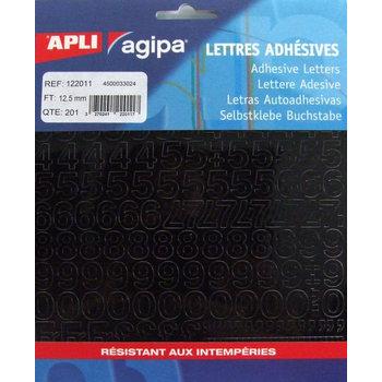 APLI Pochette 201 chiffres noirs