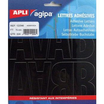 APLI Pochette 324 lettres noires