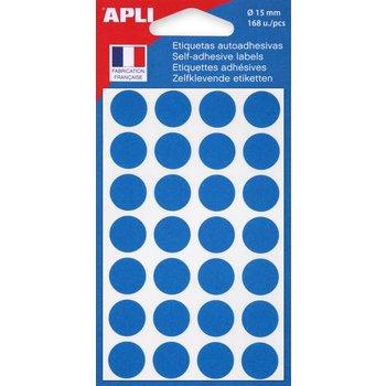 APLI Pastilles bleue Ø 15 mm 168 unités