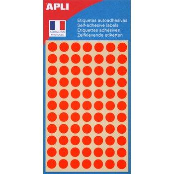 APLI Pastilles orange fluo Ø 8 mm 385 unités
