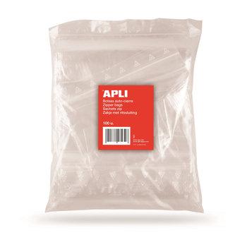 APLI Sachets plastique refermables 120 x 180 mm 100 unités