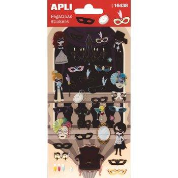 APLI Stickers Masques 1 feuille