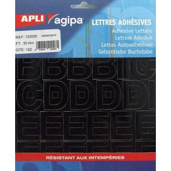 APLI Pochette 192 lettres noires