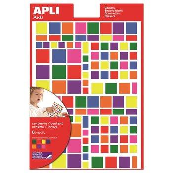 APLI Gommettes carrées 20 mm enlevables multicolores 6 feuilles