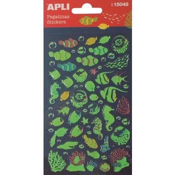 APLI Stickers Poissons luminescents 1 feuille
