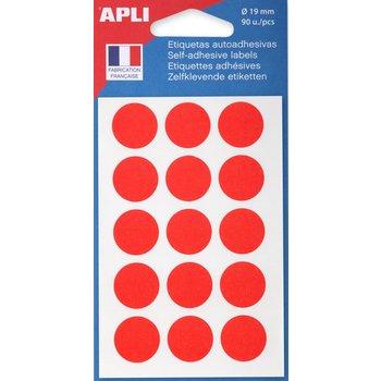APLI Pastilles rouge Ø 19 mm 90 unités