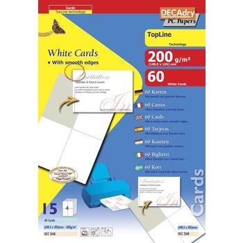 APLI Cartes de visite blanches TopLine 200g 148,5x105 mm 15 feuilles
