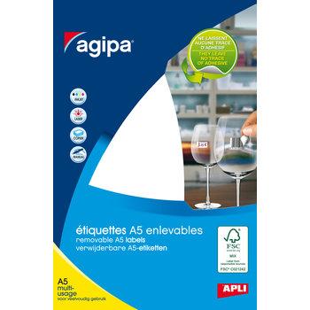 APLI Etiquettes blanches multi usage 19x38 mm 10 feuilles