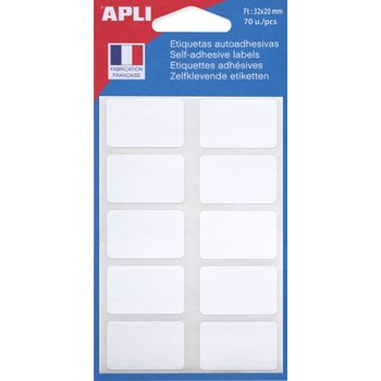 APLI Etiquettes blanches 32x20 mm 70 unités
