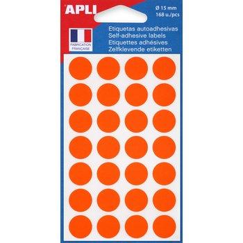 APLI Pastilles orange Ø 15 mm 168 unités