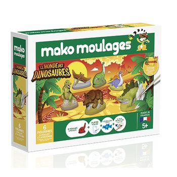 MAKO MOULAGES Le monde des dinosaures - Coffret 6 moules