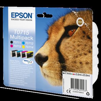 "EPSON Multipack ""Guépard"" T0715 - Encres DURABrite Ultra"
