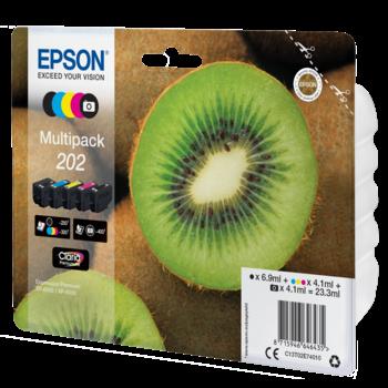 """EPSON Multipack """"Kiwi"""" 202 Claria Premium Ink"""