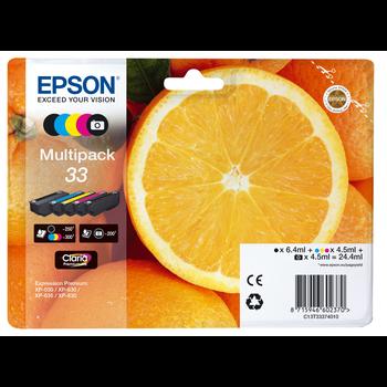 """EPSON Multipack """"Orange"""" 33 Claria Premium Ink"""