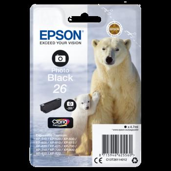 "EPSON Cartouche ""Ours Polaire"" - Encre Claria Premium Noir Photo (XL)"