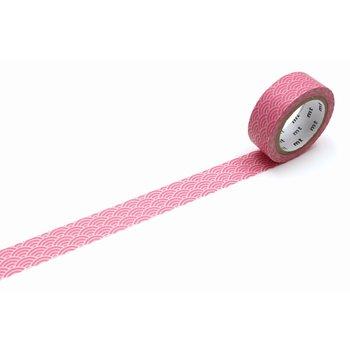 MT MASKING TAPE MT 1P Motif vague seigaiha rose pastel