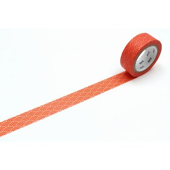 MT MASKING TAPE MT 1P Motif vague seigaiha orange