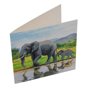 CRYSTAL ART CRYSTAL ART Kit carte broderie diamant 18x18cm Eléphants