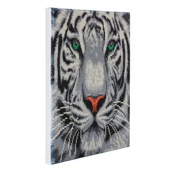 CRYSTAL ART CRYSTAL ART Kit tableau broderie diamant 30x30cm Tigre des neiges