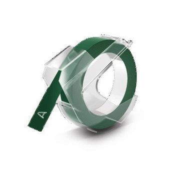 DYMO Ruban de Marquage 3D 9 mm x 3 m - Blanc sur Vert