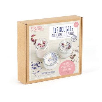 GRAINE CREATIVE Kit Bougies délicates et fleuries