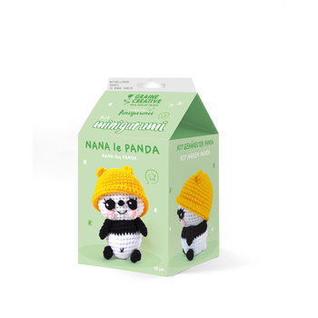 GRAINE CREATIVE Kit Minigurumi Panda Nana 100 Mm