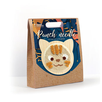 GRAINE CREATIVE Kit Punch Needle Chat 150Mm