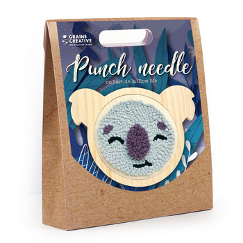 GRAINE CREATIVE Kit Punch Needle Koala 150Mm